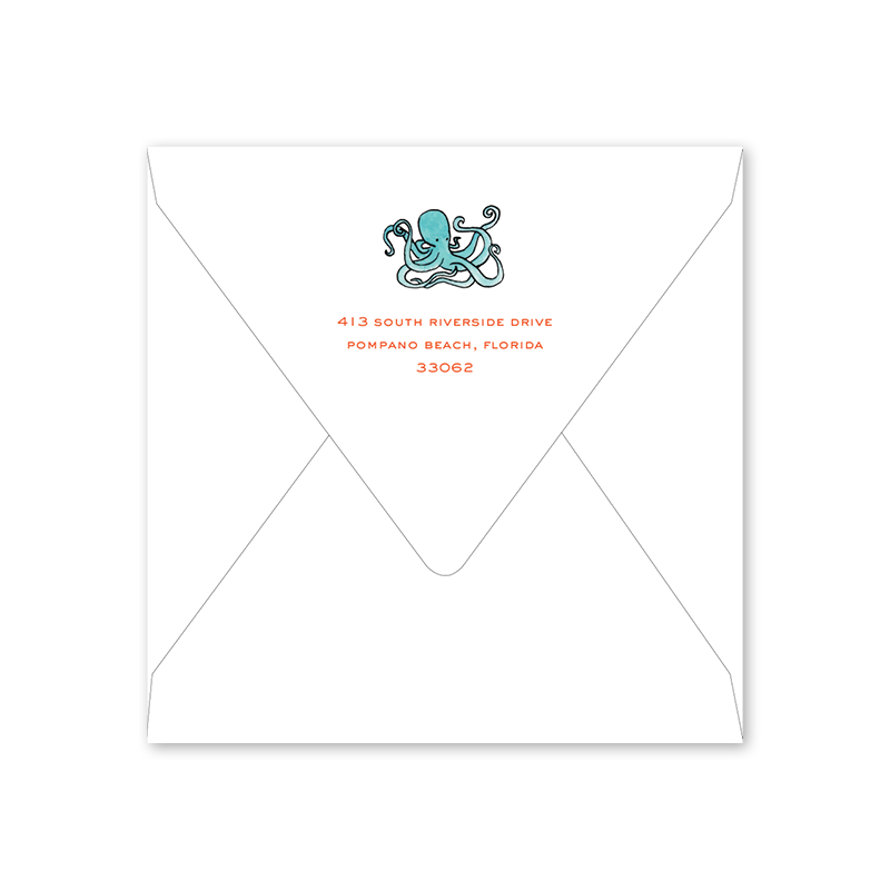 Beach Crest Square Birthday Envelopes