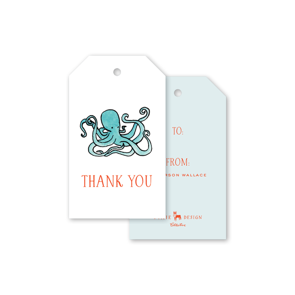 Beach Crest Thank You Gift Tags