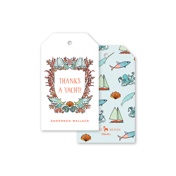 Beach Crest Wreath Gift Tags