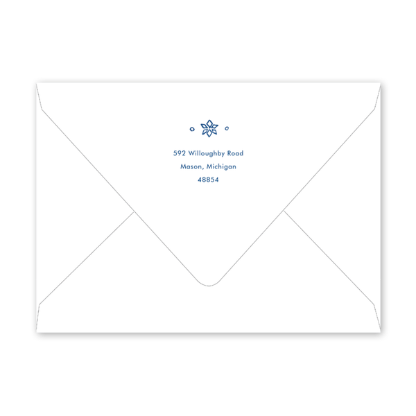 Festive Fashion Blue Landscape Envelopes