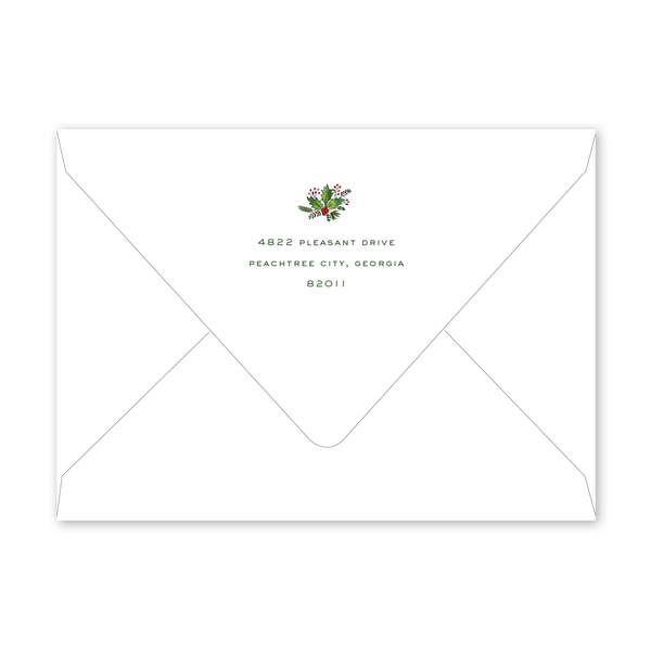 Holly Trim Frame Envelopes