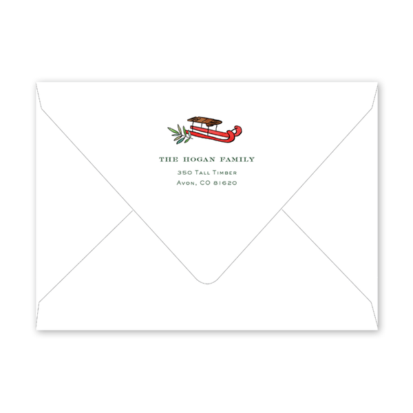 Winter Crest Invitation Envelopes
