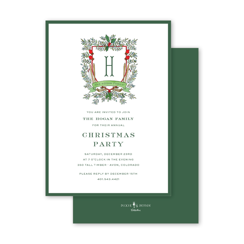 Winter Crest Invitation