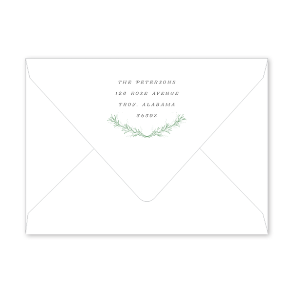 Greenery Frame Envelopes