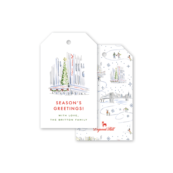 Christmas in the City Bright Lights Gift Tags