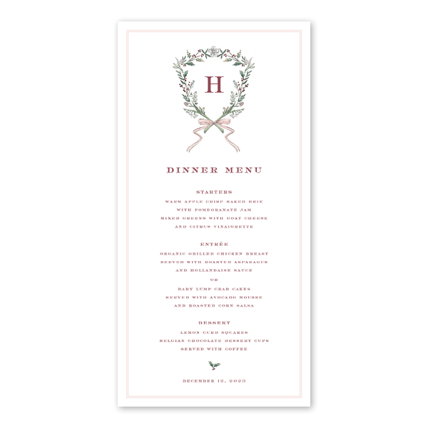 Blush Blossom Crest Menu