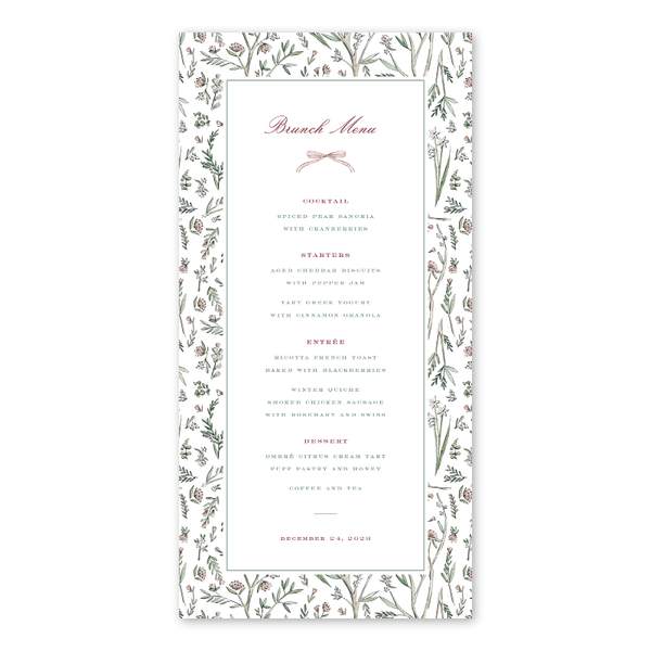 Blush Blossom Border Menu