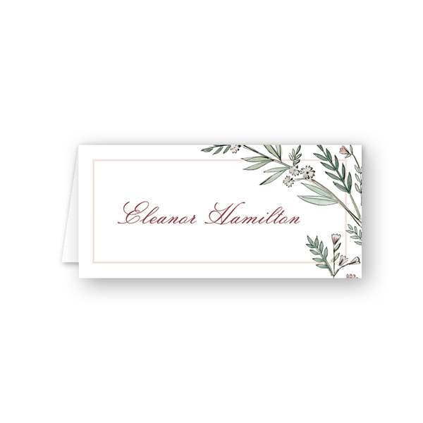 Blush Blossom Place Card