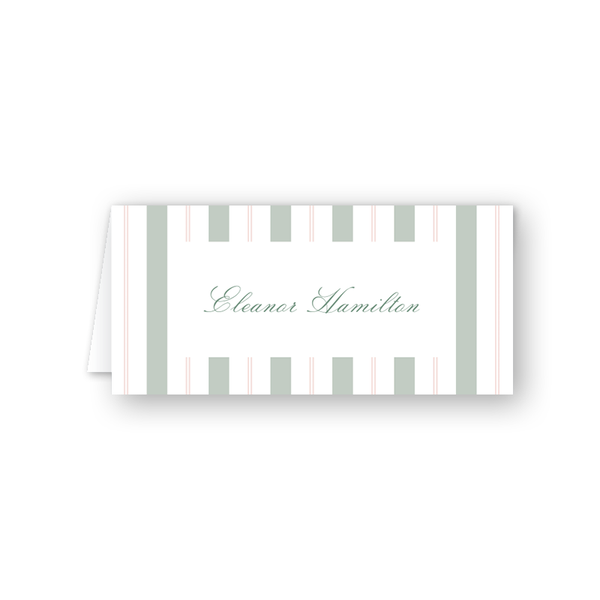 Blush Blossom Stripes Place Card