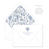 Blue Christmas Chinoiserie Invitation