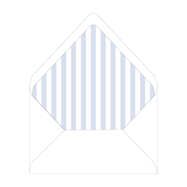 Blue Christmas Chinoiserie Invitation Stripes Liner