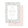 Blush Blossom Border Invitation