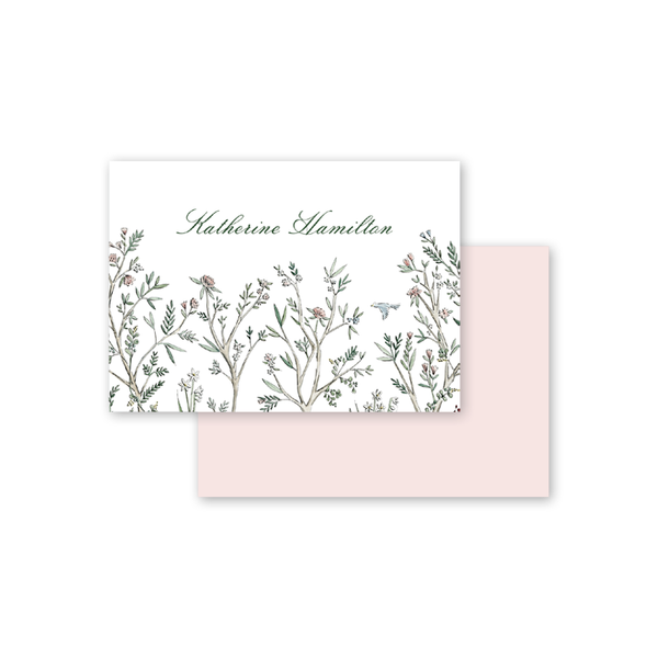 Blush Blossom Calling Card
