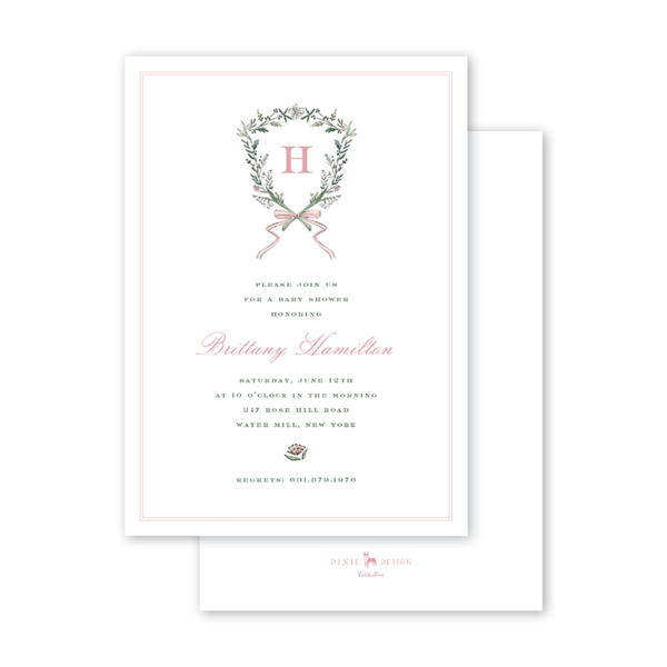 Blush Blossom Crest Baby Shower