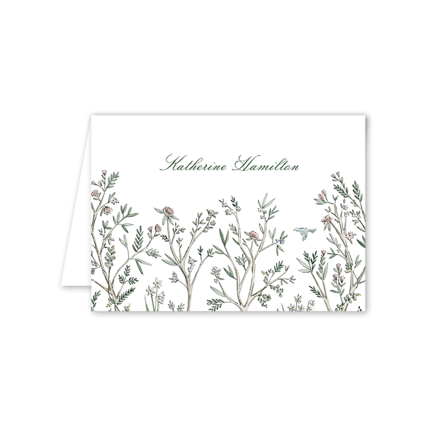 Blush Blossom Folded Notecard