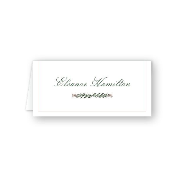 Blush Blossom Vine Place Card