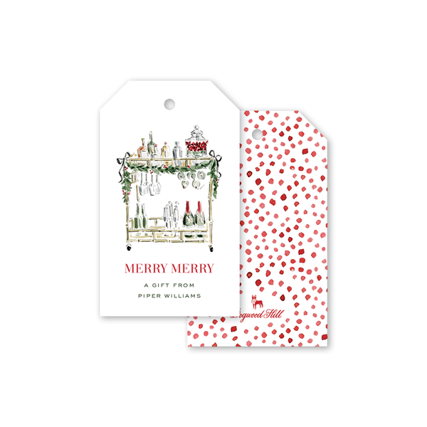 Christmas Spirits Cart Gift Tags