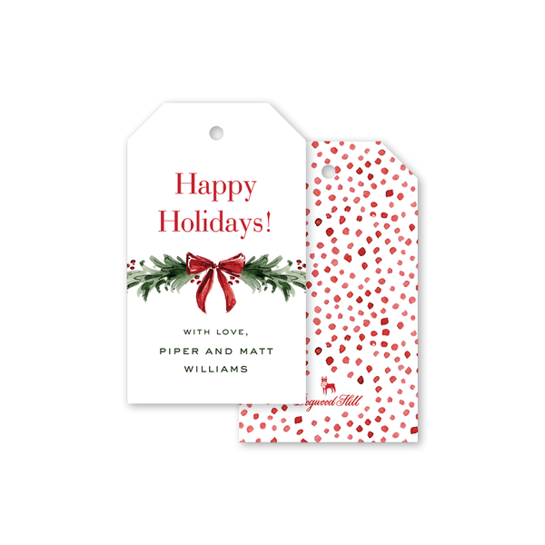 Christmas Spirits Garland Gift Tags