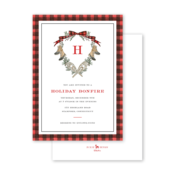 Christmas in Maine Invitation