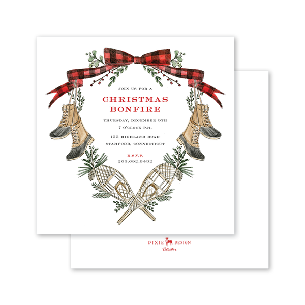 Christmas in Maine Square Invitation