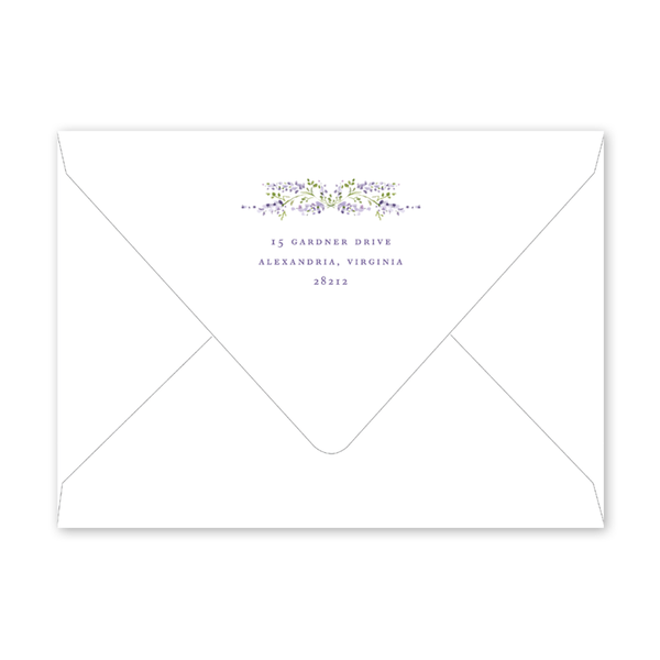 Wisteria Easter Brunch Envelopes