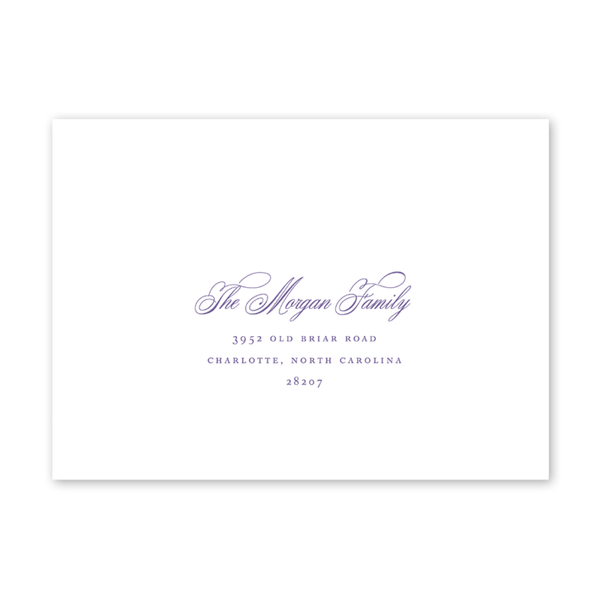 Wisteria Easter Brunch Recipient Address Printing