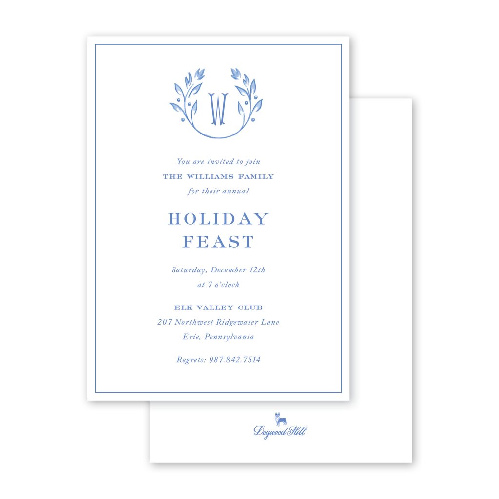 Frosted Vine Crest Invitation