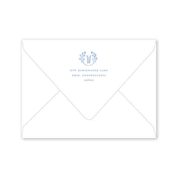 Frosted Vine Crest Invitation Envelopes