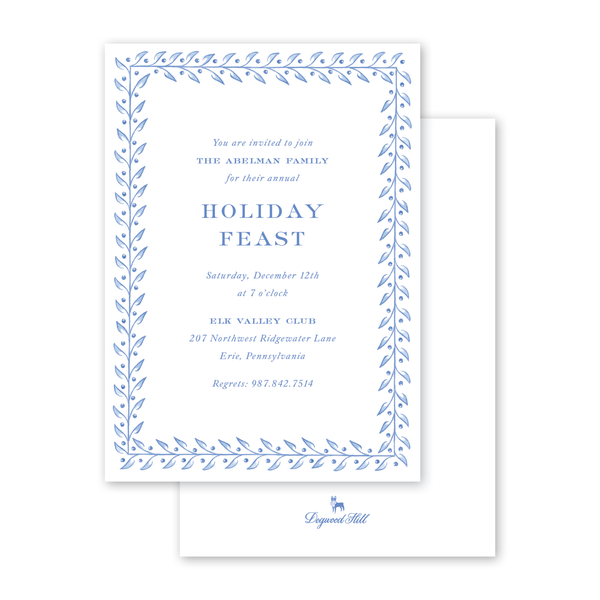 Frosted Vine Invitation