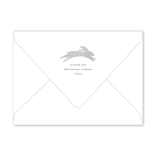 Animal Friends Blue Baby Shower Envelopes