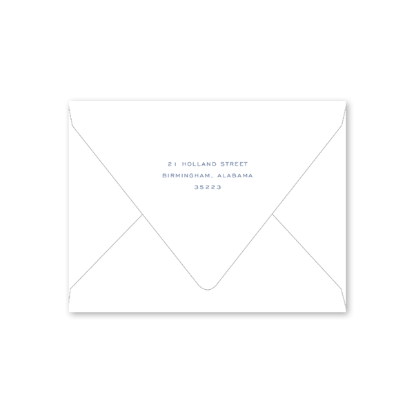 Botanical Crest Blue Notecard Envelopes