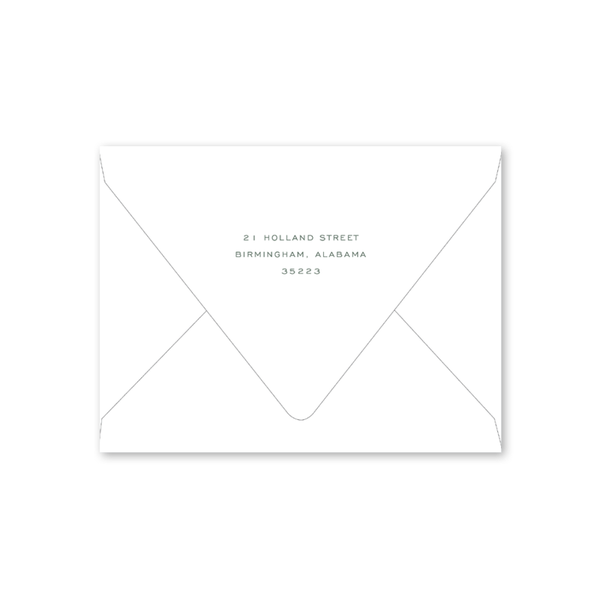 Botanical Crest Green Notecard Envelopes