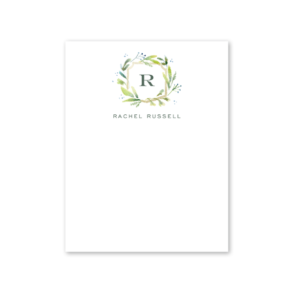 Botanical Crest Green Notecard
