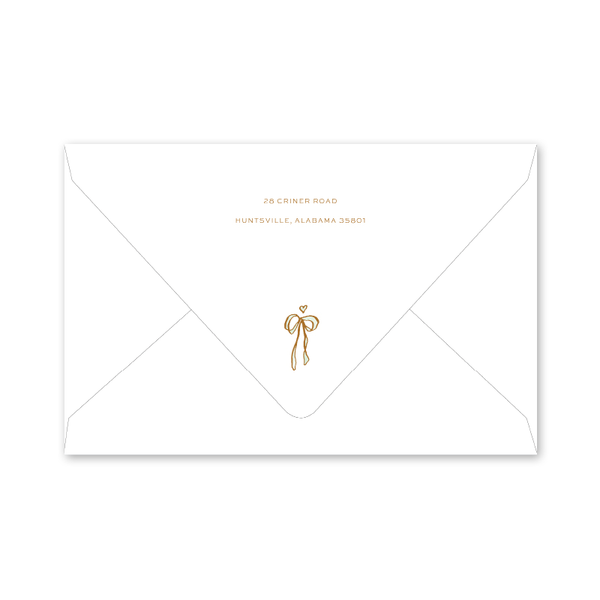 Copper Wreath Dinner/Party Envelopes