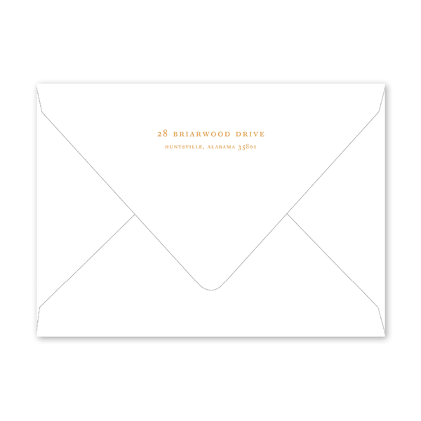 Flower Garden Dinner/Party Envelopes