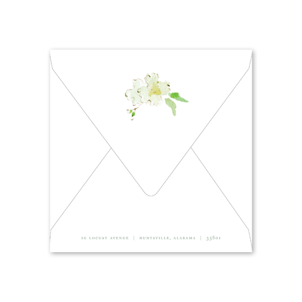 Hydrangea Scallop Brunch/Luncheon Envelopes