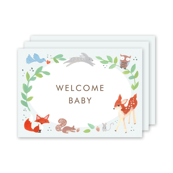 Animal Friends Blue Milestone Cards