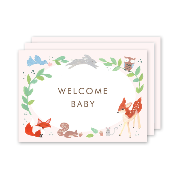 Animal Friends Pink Milestone Cards
