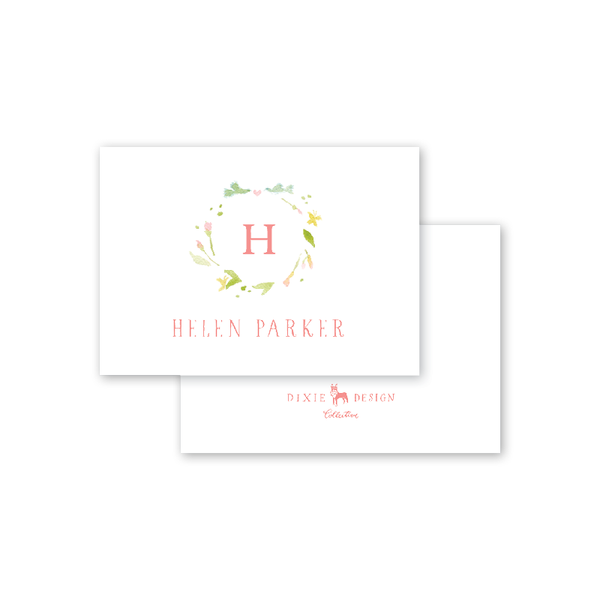 Pink Poppies Calling Card
