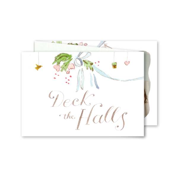 Deck the Halls Watercolor Folded