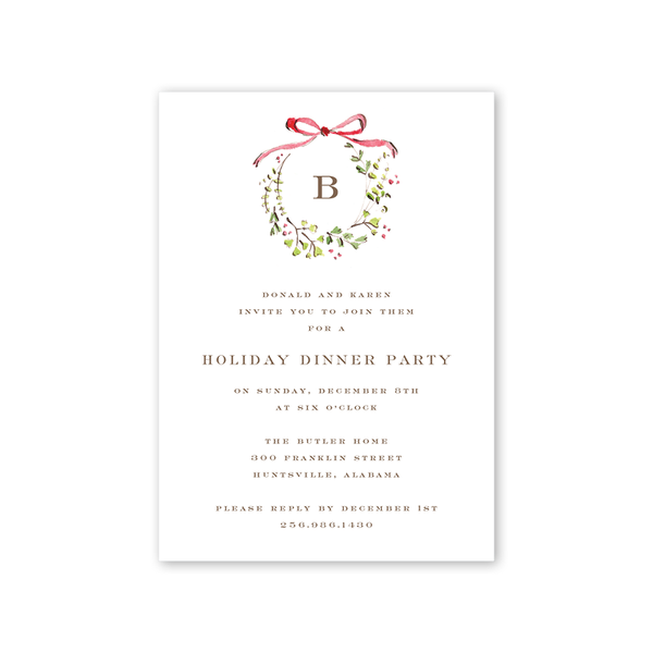 Fern and Berry Invitation