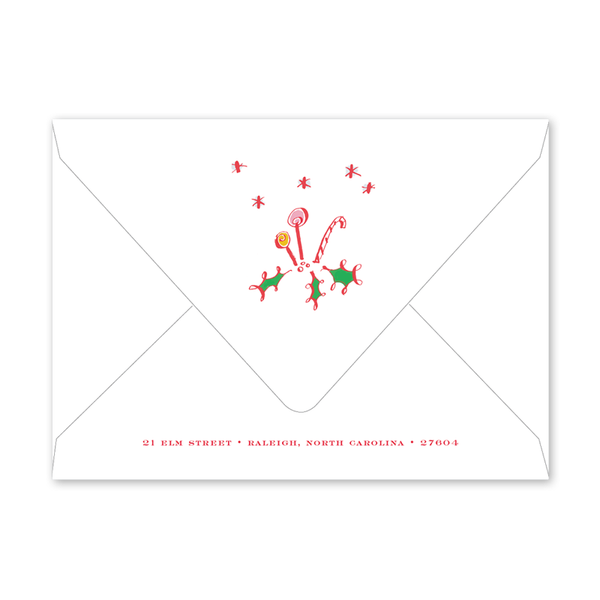 Gingerbread Sweetness Invitation Envelopes