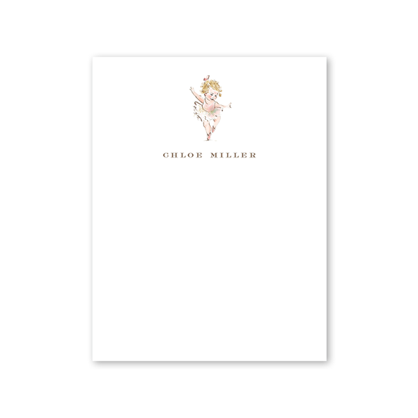 Ballerina Curls Notepad