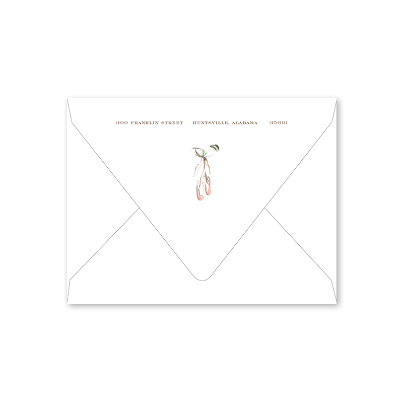 Ballerina Shoes Notecard Envelopes