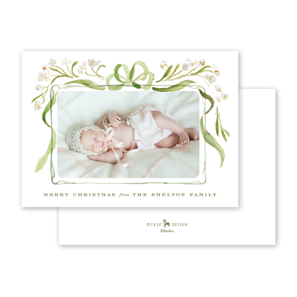 Nouveau Paperwhite Garland Birth Announcement