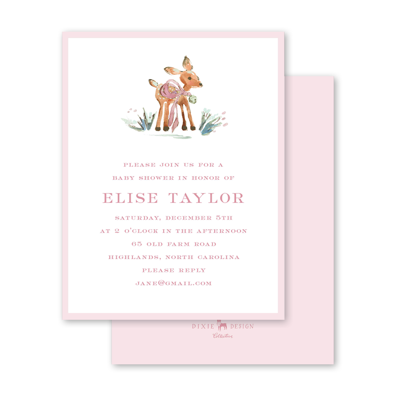 Watercolor Woodland Blush Baby Shower