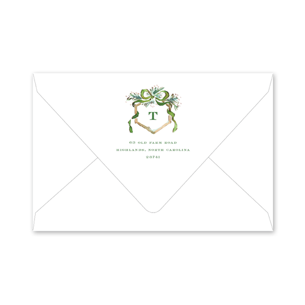 Watercolor Woodland Crest Portrait Envelopes