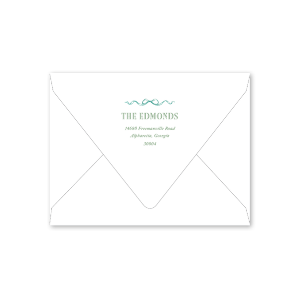 Amaryllis Plaid Landscape Envelopes