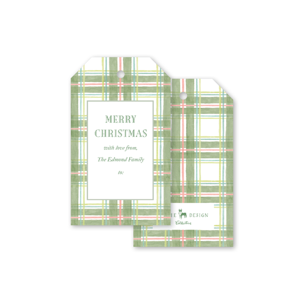 Amaryllis Plaid Gift Tags