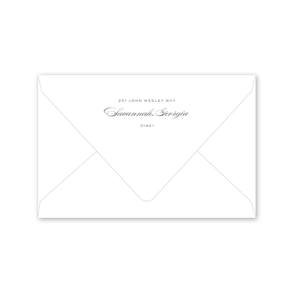 Savannah Bull Street Dinner/Party Envelopes
